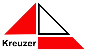 Kreuzer Bedachungen Logo weiß